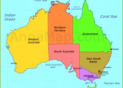 Australia Political Map: Australia political map from annamap 2