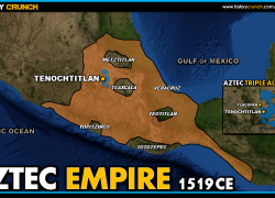 Aztec Empire Map: Aztec empire map from historycrunch 2