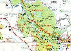 Banff National Park Map: Banff national park map from pinterest 1