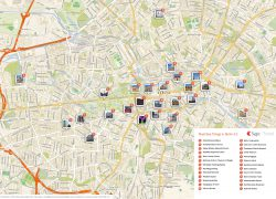 Berlin Tourist Map: Berlin tourist map from travel 1