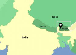 Bhutan Map: Bhutan map from tibetdiscovery 1