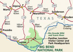 Big Bend National Park Map: Big bend national park map from nps 1