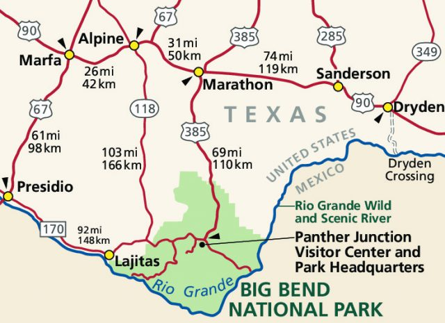 Big bend national park map from nps 1