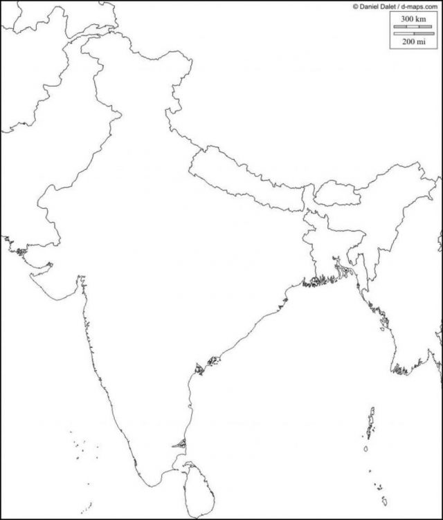 Blank physical map of india from pinterest 1