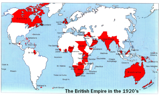 British empire map from en 1