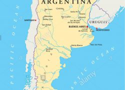 Buenos Aires On World Map: Buenos aires on world map from alamy 1