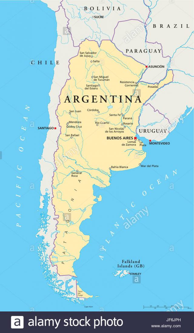 Buenos aires on world map from alamy 1