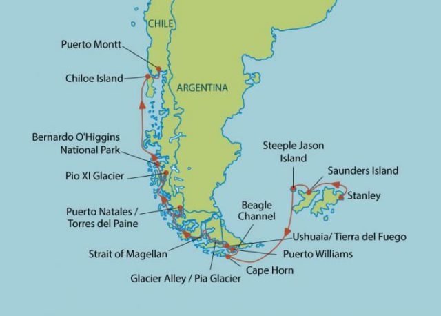 Cape horn on world map from pinterest 1
