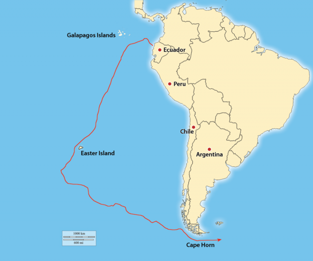 Cape Horn On World Map