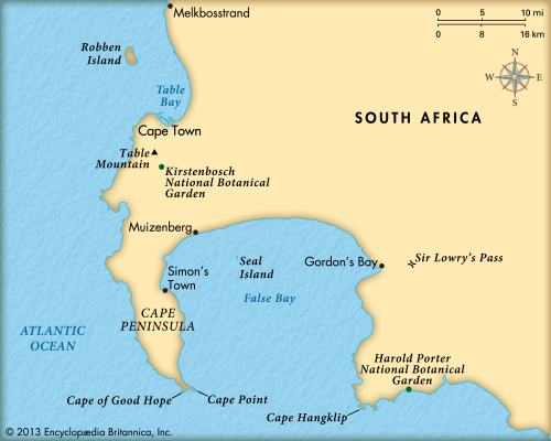 Cape of good hope on world map from kids 3