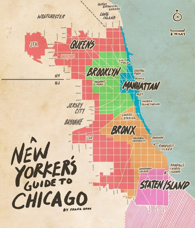 Chicago On A Map