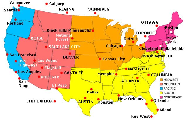 Chicago On Us Map
