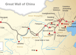 China Great Wall Map: China great wall map from chinahighlights 1