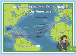 Christopher columbus map from twinkl 6