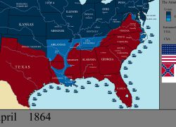 Civil War Map: Civil war map from m 1