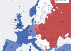 Cold War Map Europe: Cold war map europe from commons 1