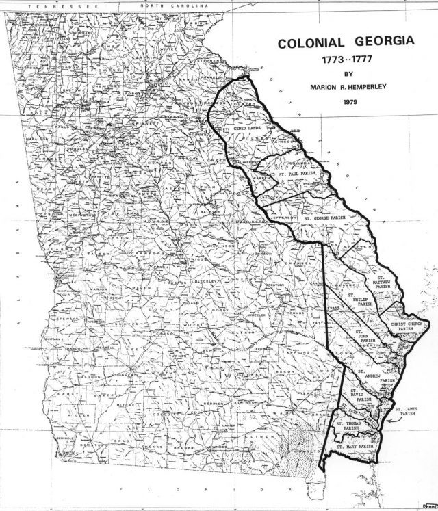 Colonial Georgia Map