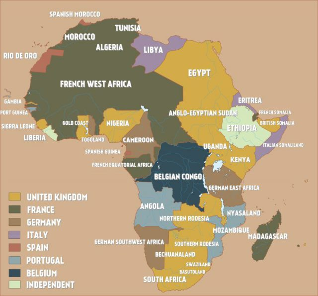 Colonial Map Of Africa