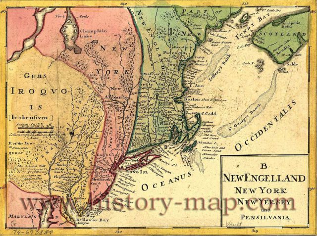 Colonial New York Map