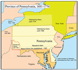 Colonial pennsylvania map from en 2