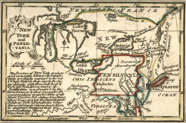Colonial Pennsylvania Map