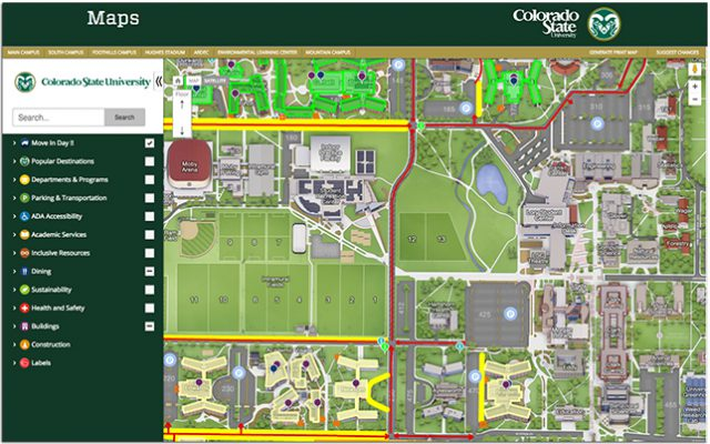 Colorado state university map from campustechnology 1
