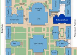 Columbia University Map: Columbia university map from columbia 2