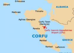 Corfu map from world guides 4