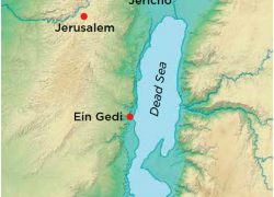 Dead Sea Map: Dead sea map from archaeology 1