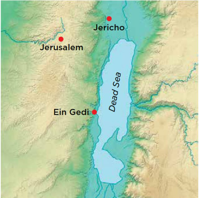 Dead sea map from archaeology 1