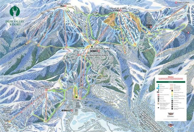 Deer valley trail map from onthesnow 1