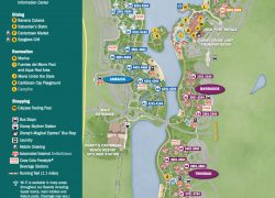Disney Caribbean Beach Map: Disney caribbean beach map from wdwinfo 1