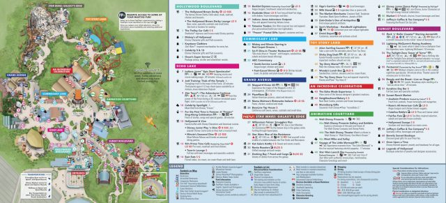 Disney hollywood studios map 2020 from magicguides 1