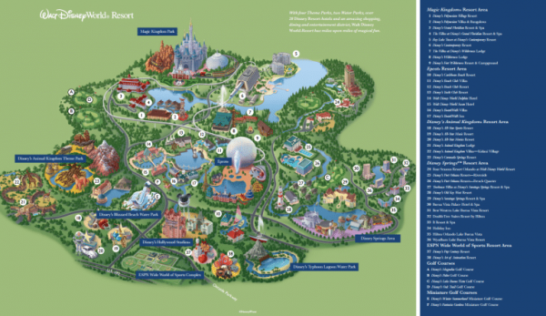 Disney world resort map 2020 from magicguides 1