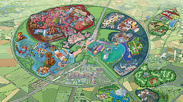 Disneyland map paris from disneyholidays 1