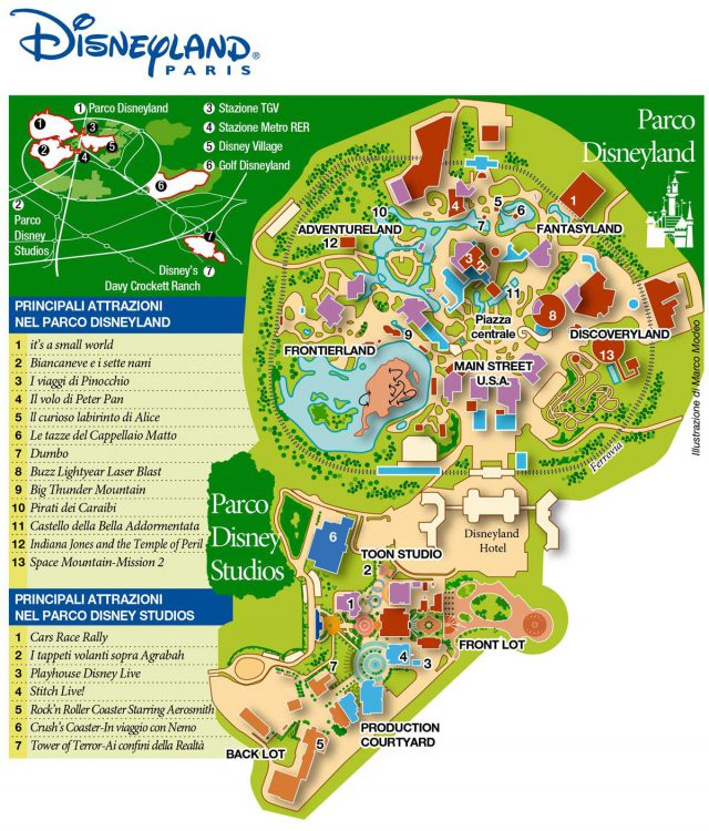 Disneyland Map Paris