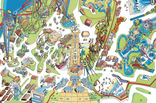 Dorney park map from dorneypark 1