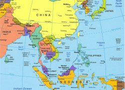 East Asia Political Map: East asia political map from geographicguide 1