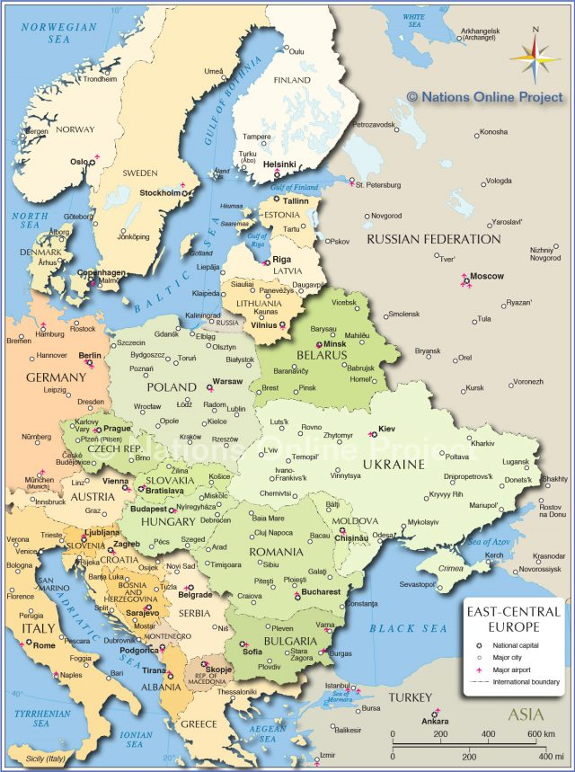 Eastern europe map from nationsonline 1