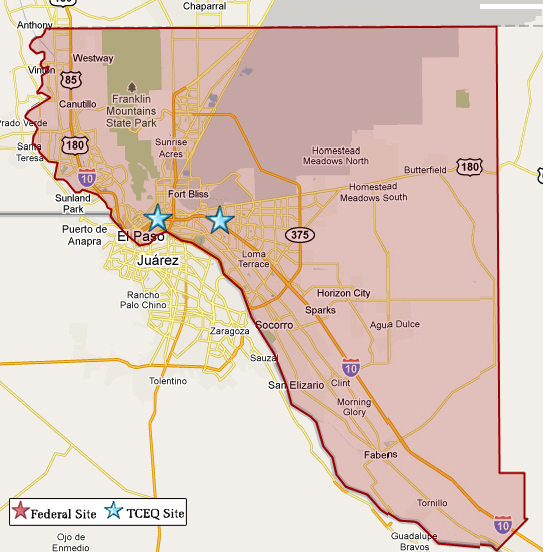 El paso map from tceq 1
