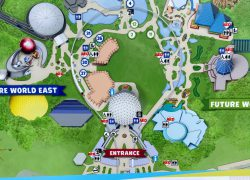 Epcot map 2020 from blogmickey 5