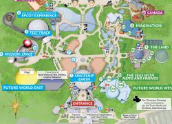 Epcot map 2020 from blogmickey 7