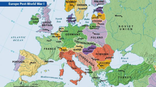 Europe After Ww1 Map