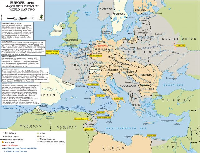 Europe ww2 map from emersonkent 2