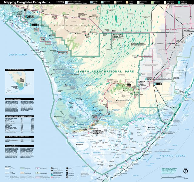 Everglades national park map from npplan 2