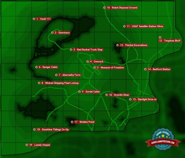 Fallout 4 map from guides 2