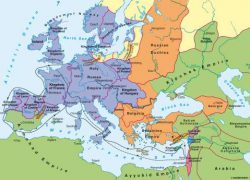 First crusade map from diercke 8