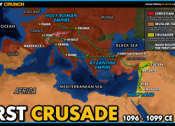 First Crusade Map: First crusade map from historycrunch 2