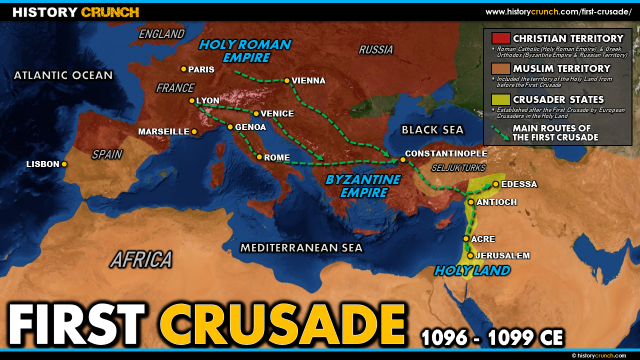 First crusade map from historycrunch 2