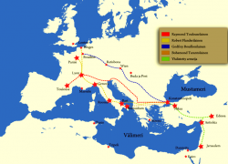 First crusade map from medievalchronicles 3